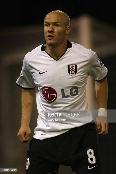 Andy Johnson of Fulham during the Carling Cup third round match between Burnley and Fulham at Turf Moor on September 23 2008 in Burnley England