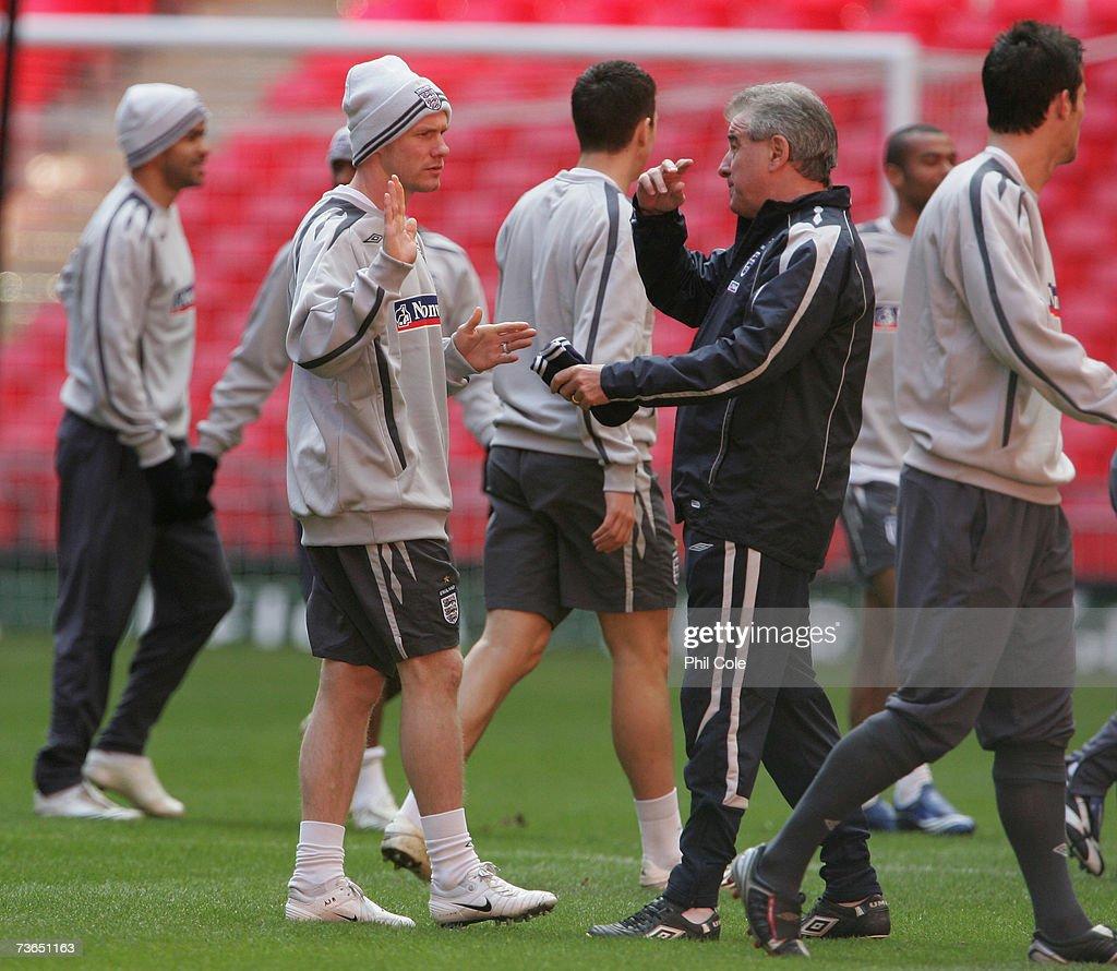 England Training at Wembley