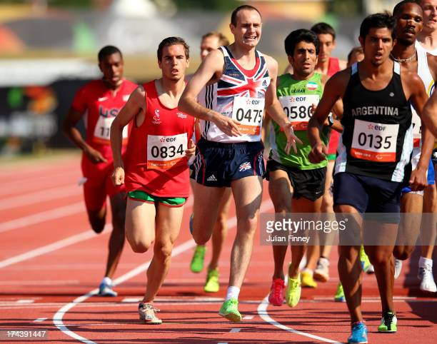 Andy Kaar of Great Britain in action in the Men's 1500m T20 final during day six of the IPC Athletics World Championships on July 25 2013 in Lyon...