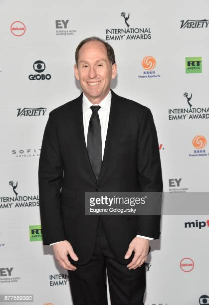 Andy Kaplan attends International Emmy Awards Red Carpet at New York Hilton Midtown on November 20 2017 in New York City