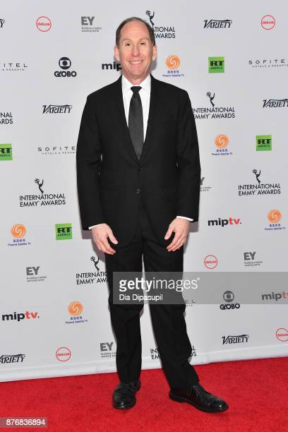 Andy Kaplan President of Sony Pictures Television Networks attends the 45th International Emmy Awards at New York Hilton on November 20 2017 in New...