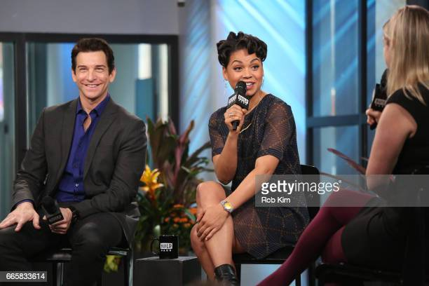 Andy Karl and Barrett Doss discuss Groundhog Day during the Build Series at Build Studio on April 7 2017 in New York City