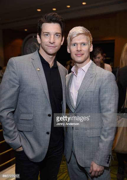 Andy Karl and Lucas Steele attend the Tony Honors Cocktail Party Presenting The 2017 Tony Honors For Excellence In The Theatre And Honoring The 2017...