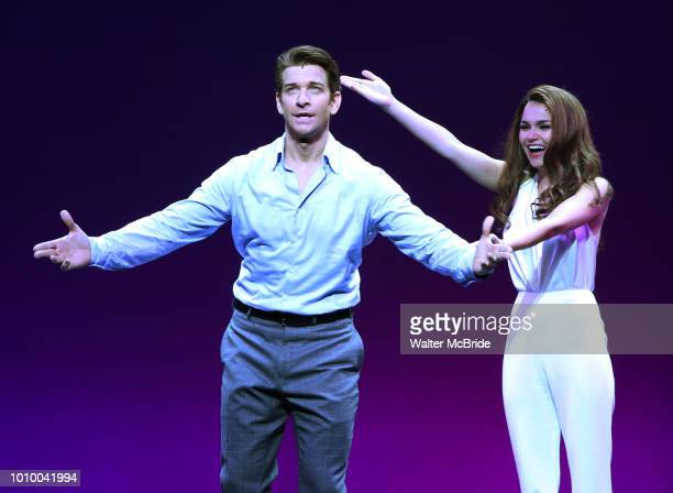 Andy Karl and Samantha Barks during the Curtain Call for the Garry Marshall Tribute Performance of 'Pretty WomanThe Musical' at the Nederlander...
