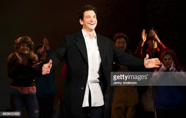 Andy Karl during opening night curtain call of Groundhog Day at August Wilson Theatre on April 17 2017 in New York City