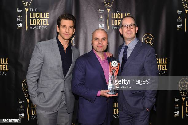 Andy Karl JT Rogers and Adam Siegel attends 32nd Annual Lucille Lortel Awards at NYU Skirball Center on May 7 2017 in New York City