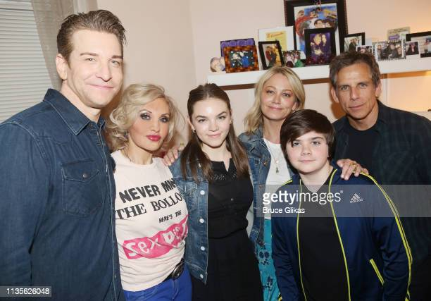 Andy Karl Orfeh Ella Stiller Christine Taylor Quinlin Stiller and Ben Stiller pose backstage at the hit musical based on the film Pretty WomanThe...