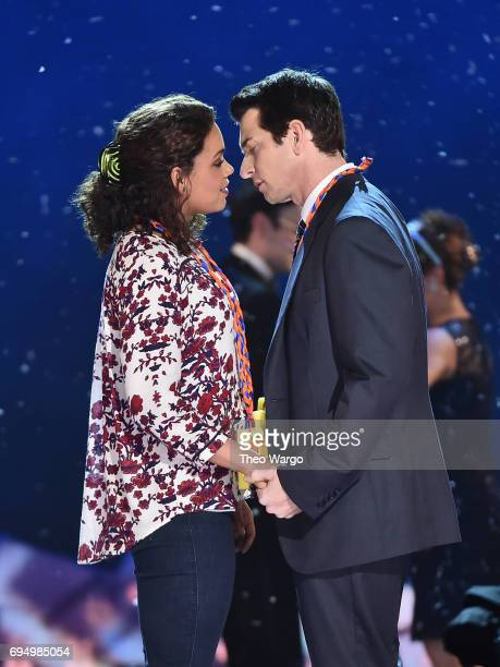 Andy Karl performs onstage with the cast of 'Groundhog Day' during the 2017 Tony Awards at Radio City Music Hall on June 11 2017 in New York City
