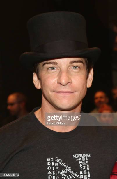 Andy Karl poses backstage on the opening night of the new musical based on the film Groundhog Day on Broadway at The August Wilson Theatre on April...
