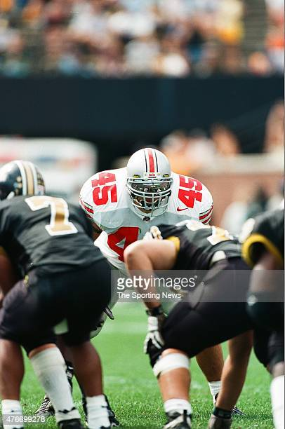 Andy Katzenmoyer of the Ohio State Buckeyes looks on against the Missouri Tigers on September 27 1997