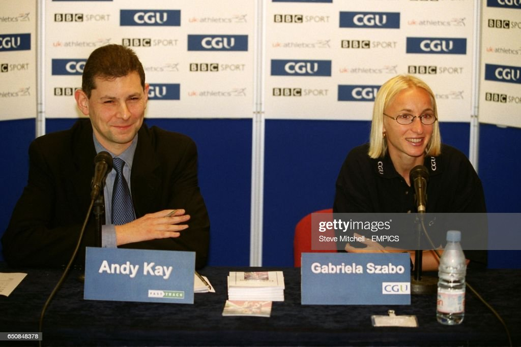 Athletics cgu indoor grand prix gabriela szabo press conference andy kay of fast track hosts a press conference with gabriela szabo altavistaventures Choice Image