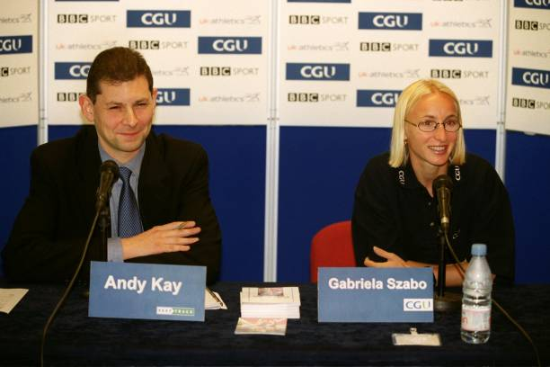 Athletics cgu indoor grand prix gabriela szabo press conference andy kay of fast track hosts a press conference with gabriela szabo altavistaventures Image collections