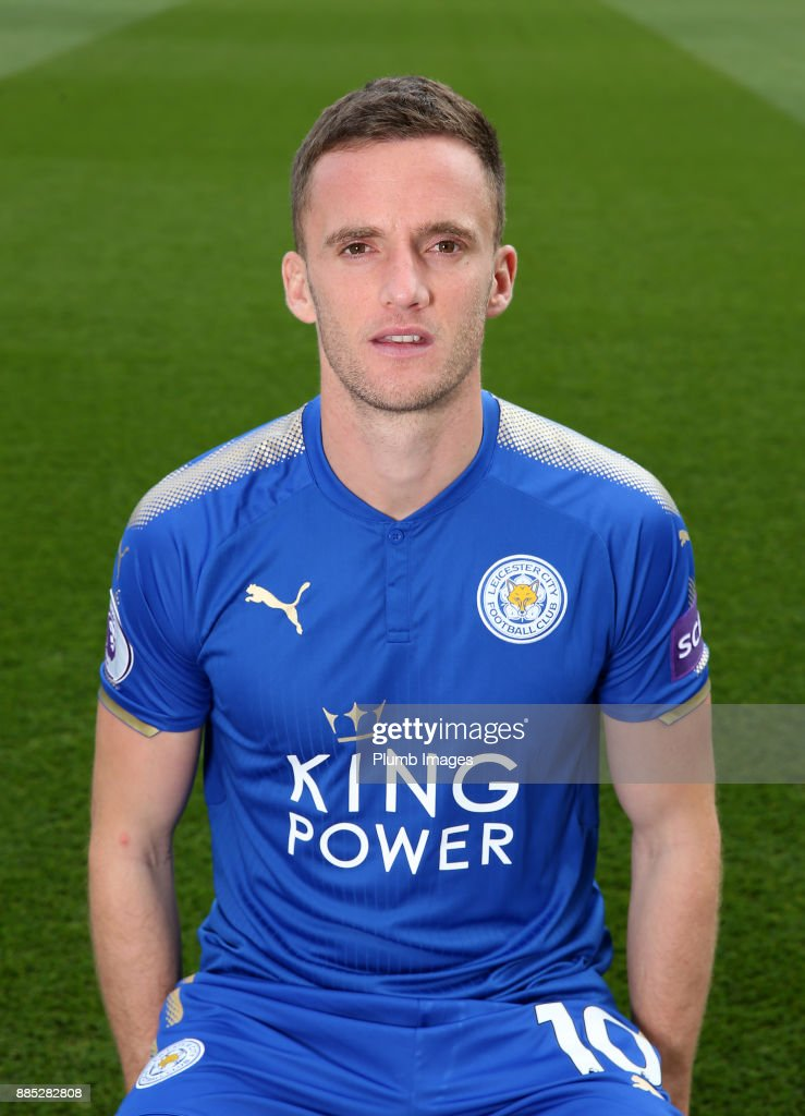 Andy King during the Leicester City Official Team Group on November 1 , 2017 in Leicester, United Kingdom.
