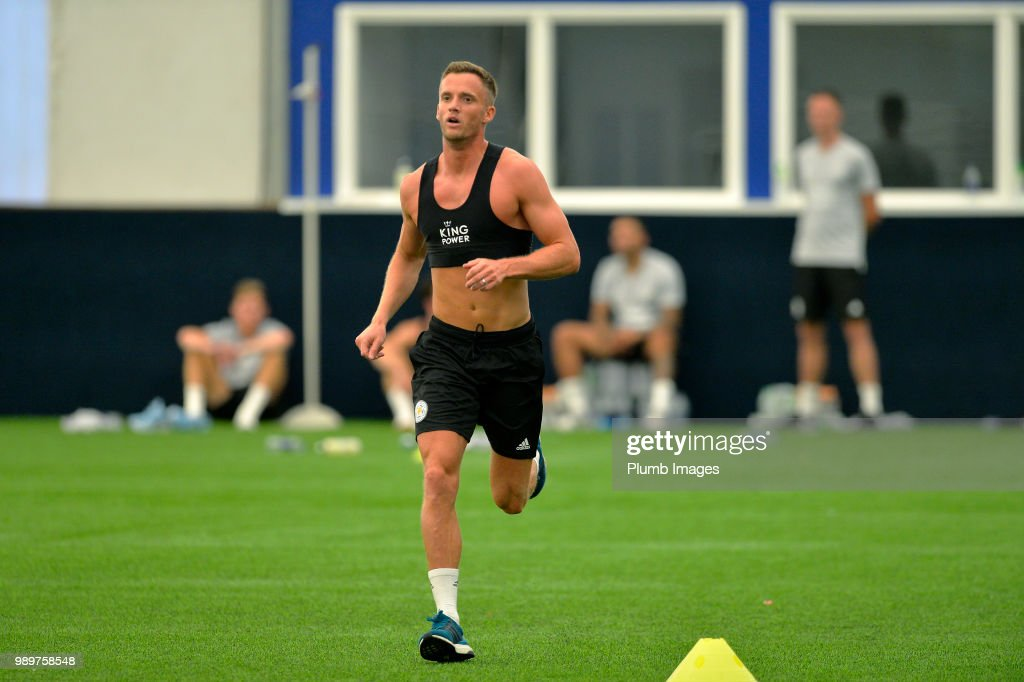 Andy King during training as Leicester City Players Return to Pre-Season Training at Belvoir Drive Training Complex on July 02 , 2018 in Leicester, United Kingdom.