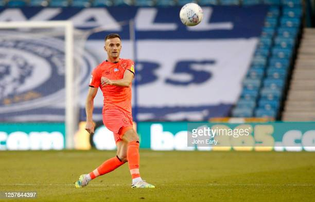 Andy King of Huddersfield Town during the Sky Bet Championship match between Millwall and Huddersfield Town at The Den on July 22 2020 in London...