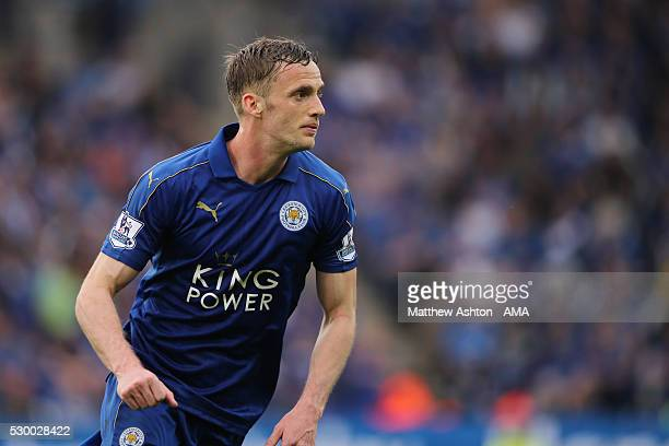 Andy King of Leicester City during the Barclays Premier League match between Leicester City and Everton at The King Power Stadium on May 7 2016 in...