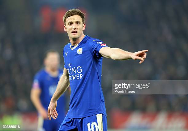 Andy King of Leicester City during The Emirates FA Cup Third Round Replay match between Leicester City and Tottenham at the King Power Stadium on...