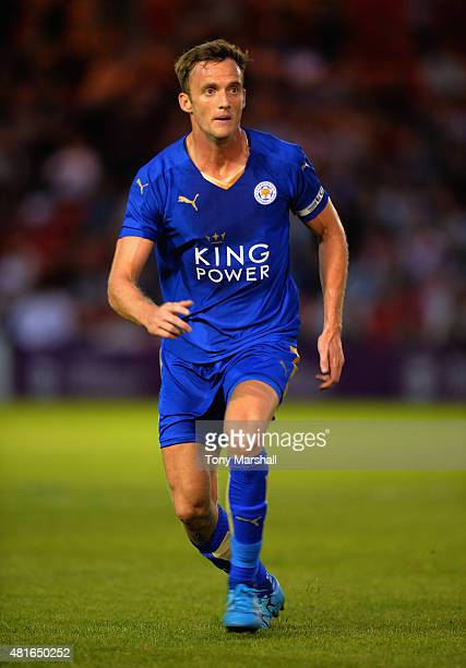 Andy King of Leicester City during the Pre Season Friendlly match between Lincoln City and Leicester City at Sincil Bank Stadium on July 21 2015 in...