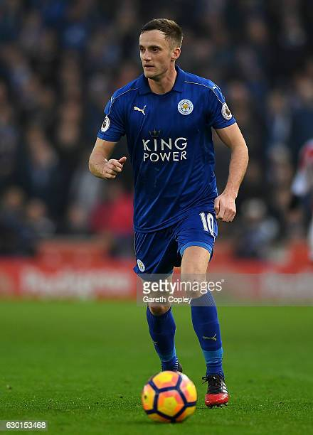 Andy King of Leicester City during the Premier League match between Stoke City and Leicester City at Bet365 Stadium on December 17 2016 in Stoke on...