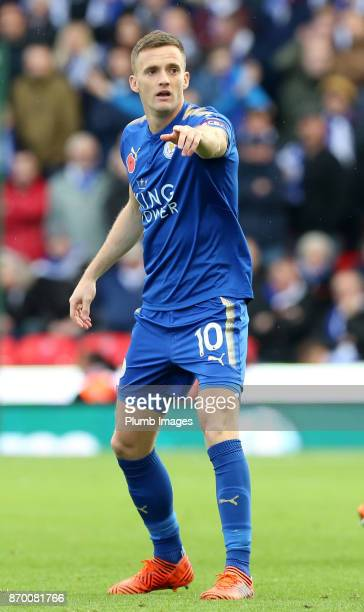 Andy King of Leicester City during the Premier League match between Stoke City and Leicester City at Bet365 Stadium on November 4th 2017 in Stoke on...