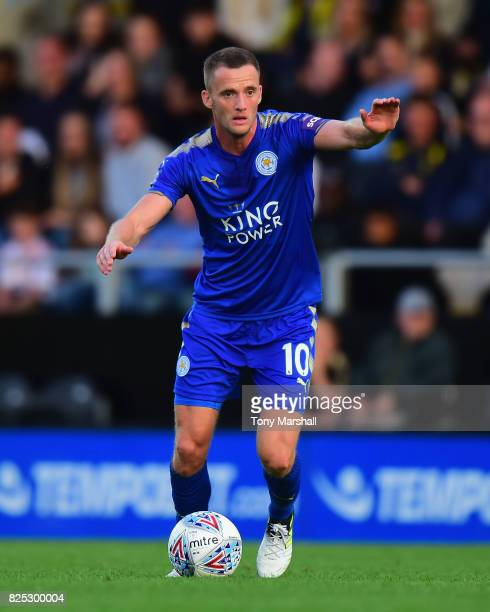 Andy King of Leicester City during the PreSeason Friendly match between Burton Albion v Leicester City at Pirelli Stadium on August 1 2017 in...