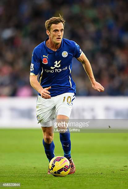 Andy King of Leicester City in action during the Barclays Premier League match between Leicester City and West Bromwich Albion at The King Power...