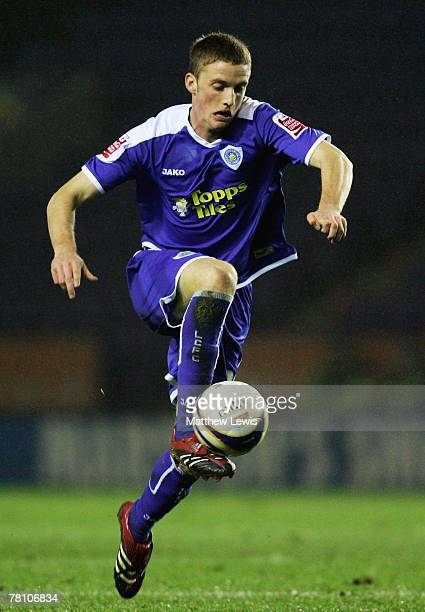 Andy King of Leicester City in action during the CocaCola Championship match between Leicester City and Cardiff City at the Walkers Stadium on...