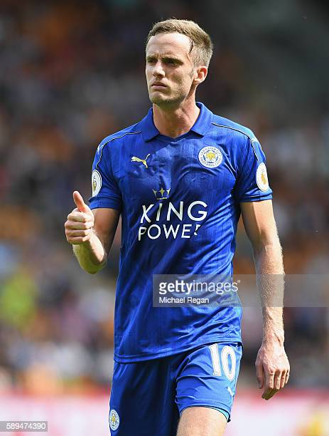 Andy King of Leicester City in action during the Premier League match between Hull City and Leicester City at KCOM Stadium on August 13 2016 in Hull...