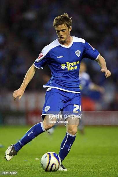Andy King of Leicester during the CocaCola League One match between Leicester City and Scunthorpe United at the Walkers Stadium on April 24 2009 in...