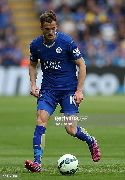 Andy King of Leicester in action during the Premier League match between Leicester City and Queens Park Rangers at The King Power Stadium on May 24...