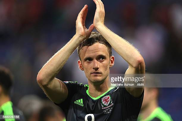 Andy King of Wales looks dejected at the end of the UEFA Euro 2016 Semi Final match between Portugal and Wales at Stade des Lumieres on July 6 2016...