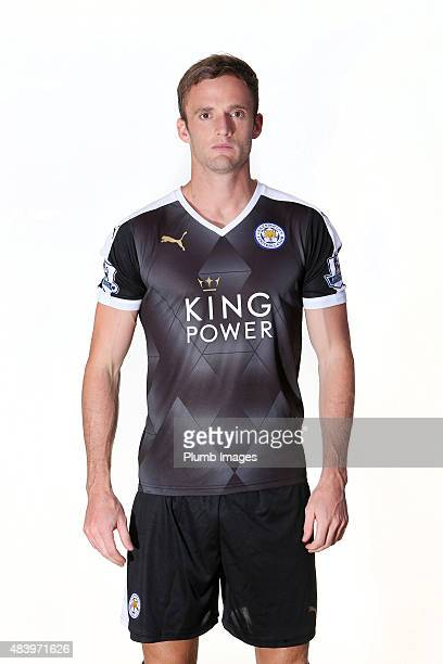 Andy King poses during the Leicester City Photocall at Belvoir Drive Training Ground on July 31 2015 in Leicester United Kingdom