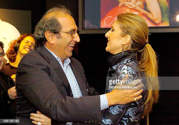 Andy Lack and Celine Dion during Celine Dion and Anne Geddes Collaborate on a Major New Work Miracle at Sony in New York City New York United States