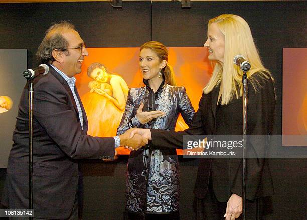 Andy Lack Celine Dion and Anne Geddes during Celine Dion and Anne Geddes Collaborate on a Major New Work Miracle at Sony in New York City New York...