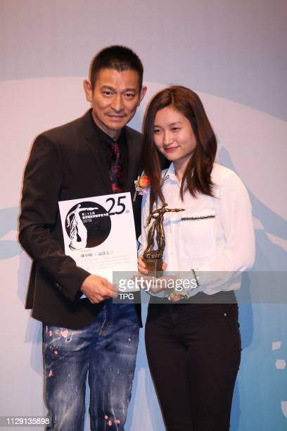 Andy Lau attended the 25th Hong Kong film critics society awards as presenter on 07 March 2019 in Hong KongChina