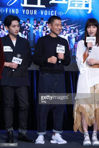 Andy Lau attended the press conference of his new film ¡°Find Your Voice¡± on 20 March 2019 in Hong KongChina