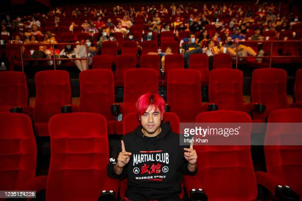 Andy Le, who portrayed Death Dealer in Shang-Chi and the Legend of the Ten Rings, at the screening of movie at AMC theater on Saturday, Sept. 4, 2021...