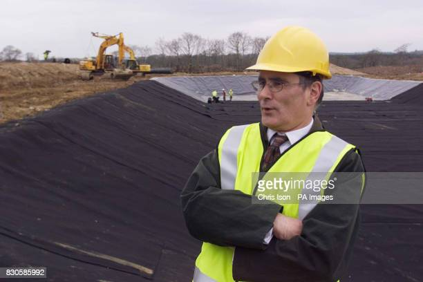Andy Lebrecht Director of Operations for the Ministry of Agriculture in Devon at the Ash Moor Barrows site in Devon where MAFF are capable of...