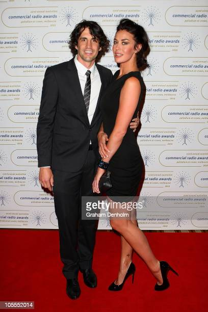 Andy Lee and Megan Gale arrive at the 2010 Australian Commercial Radio Awards at the Crown Palladium on October 16 2010 in Melbourne Australia