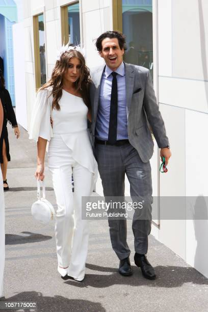 Andy Lee and Rebecca Harding enjoying Derby Day at the 2018 Melbourne Cup Carnival