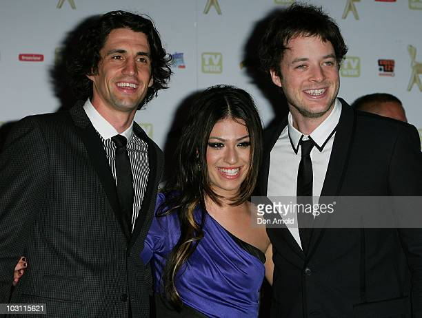 Andy Lee Gabriella Cilmi and Hamish Blake arrive at the 52nd TV Week Logie Awards at Crown Casino on May 2 2010 in Melbourne Australia