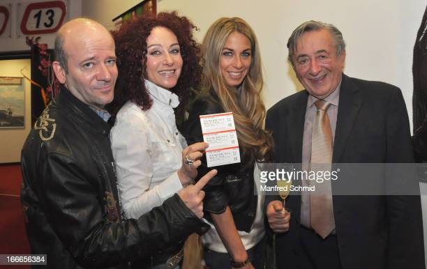 Andy Lee Lang Christina Mausi Lugner Ivonne Rueff and Richard Lugner attend the after party for the Austria premiere of 'Kiss The Coach' at Lugner...