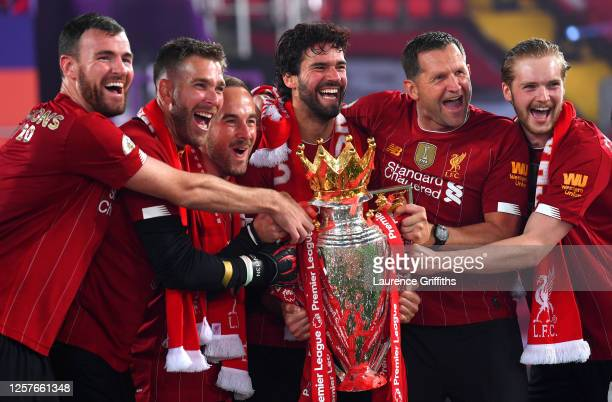 Andy Lonergan Adrian Jack Robinson Assistant Goalkeeping Coach Alisson Becker John Achterberg Goalkeeping Coach and Caoimhin Kelleher of Liverpool...