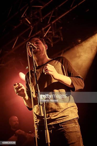 Andy MacFarlane and James Graham of The Twilight Sad perform on stage at The Liquid Room on December 14, 2013 in Edinburgh, United Kingdom.
