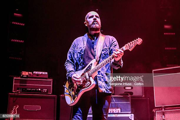 Andy MacFarlane of Scottish postpunk indie rock band The Twilight Sad opens the concert of English rock band The Cure on November 1 2016 in Milan...