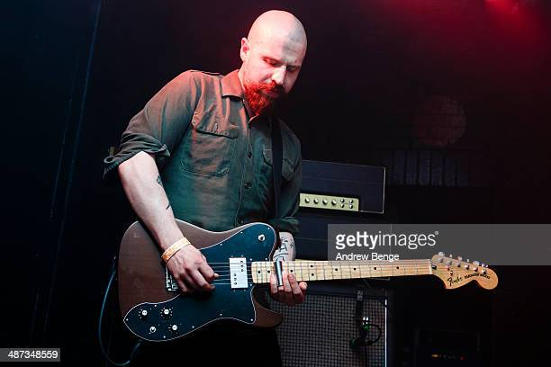Andy MacFarlane of The Twilight Sad performs on stage at Brudenell Social Club on April 29 2014 in Leeds United Kingdom