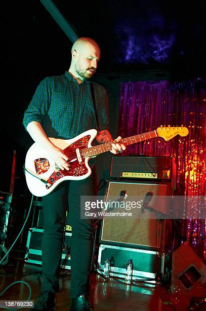 Andy MacFarlane of The Twilight Sad performs on stage at Queens Social Club on February 11 2012 in Sheffield United Kingdom