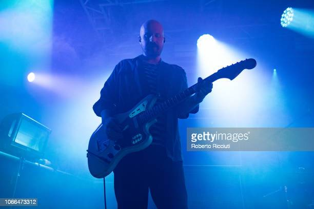 Andy MacFarlane of The Twilight Sad performs on stage at The Liquid Room on November 29 2018 in Edinburgh Scotland