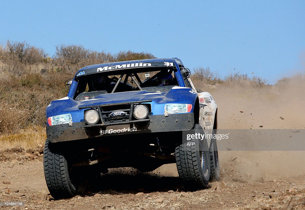 US Andy Mc Millin drives his Chevy C1500 during the first day of the Baja 500 rally, in Baja California State, Mexico, on June 5, 2010. AFP PHOTO/Jesus Alcazar