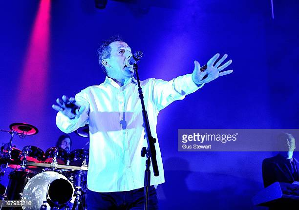 Andy McCluskey and Paul Humphreys of OMD perform on stage at The Roundhouse on May 3 2013 in London England